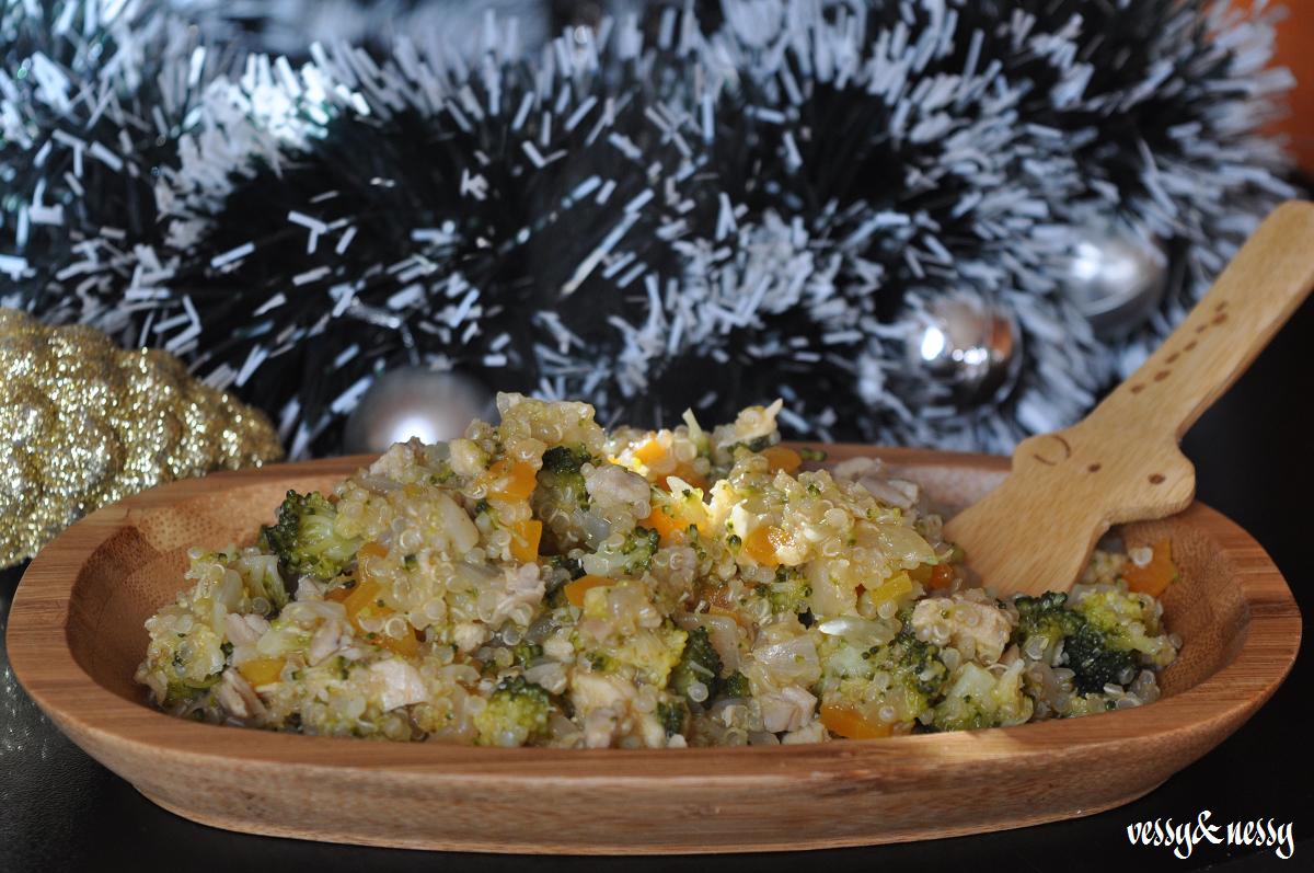 Заешко месо с киноа и броколи