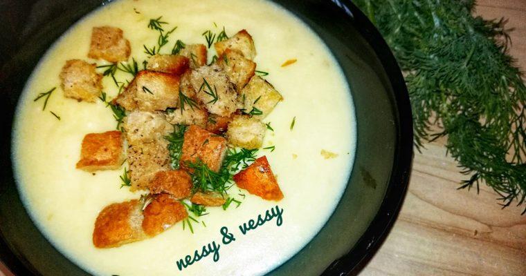 Картофена крем супа с топено сирене