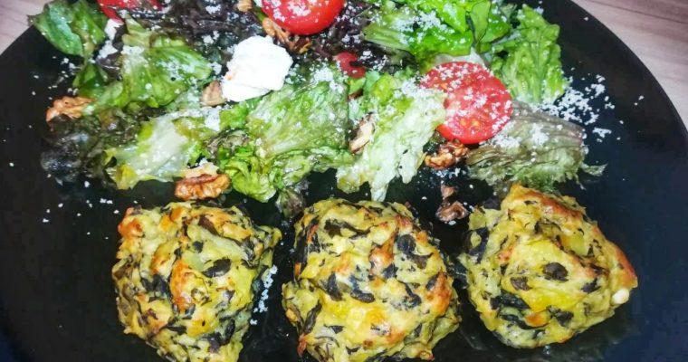 Кюфтенца с лапад и картофи